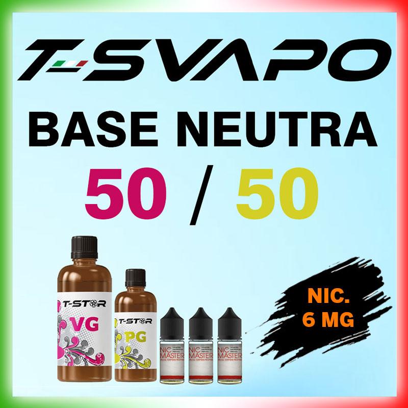 T-Star Base 50/50 Nicotina 6mg 90 ml