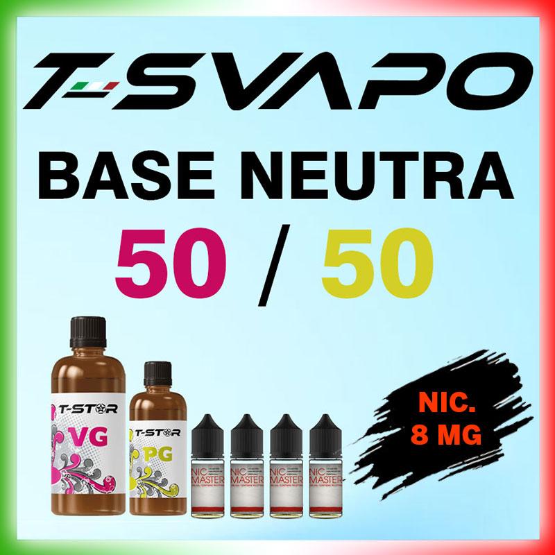 T-Star Base 50/50 Nicotina 8mg 90 ml