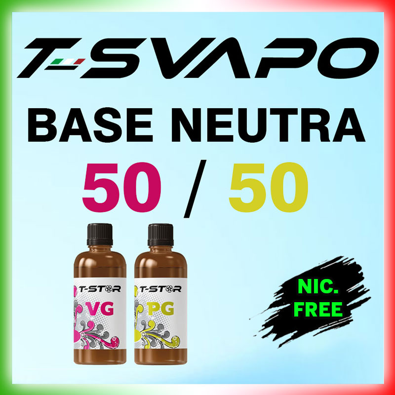 T-Svapo Base 50/50 Senza Nicotina 90 ml