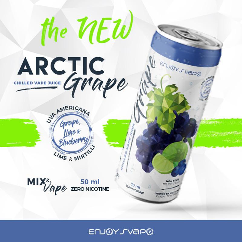 Enjoy Svapo Arctic Grape 50 ml mix un liquido estivo con uva ghiacciata e lime